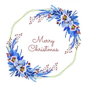 Feliz natal saudação cand