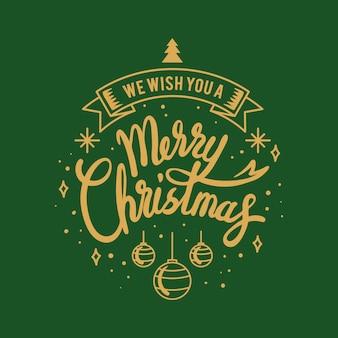 Feliz natal saudação emblema