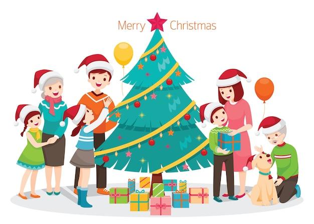 Feliz natal saudação familiar