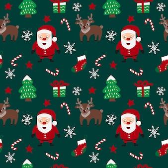 Feliz natal sem costura padrão