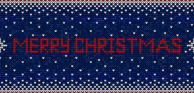 Feliz natal tricô sem costura padrão