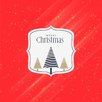 Feliz natal vermelho design criativo saudação
