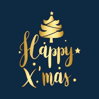 Feliz natal xmas emblema de saudação de natal