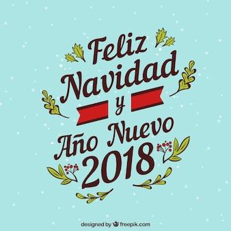 Feliz navidad lettering background
