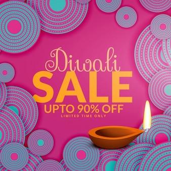 Feliz oferece diwali venda e ofertas