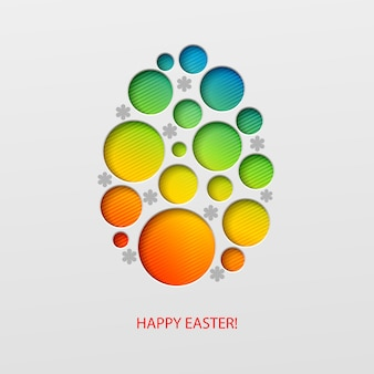 Feliz páscoa decorado ovo de papel