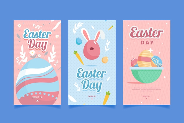 Feliz páscoa dia instagram histórias com ovos