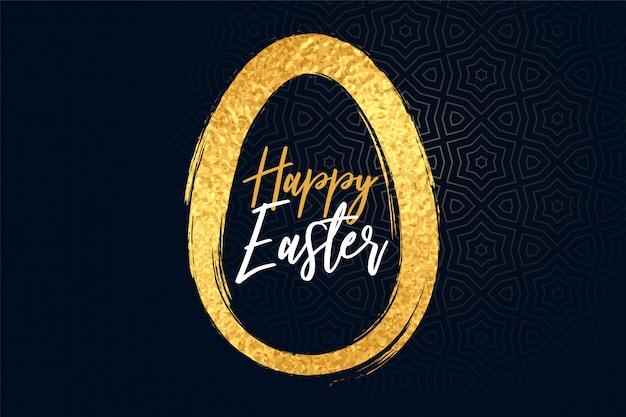 Feliz páscoa dourado texturizado ovo fundo