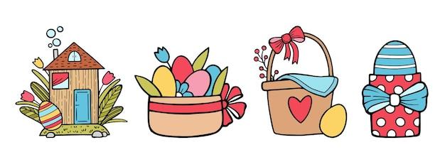 Feliz páscoa, feriado de primavera, comida de pessoas