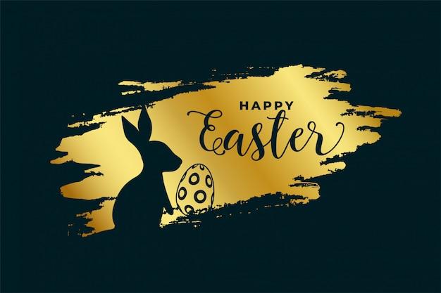 Feliz páscoa festival fundo no tema dourado