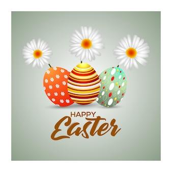 Feliz páscoa ovos de páscoa coloridos