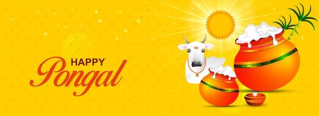 Feliz pongal festival religioso do sul da índia.