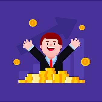 Feliz por ser rico e bem sucedido