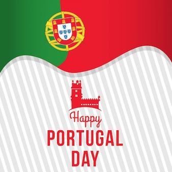 Feliz, portugal, dia, ilustração