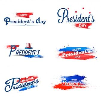 Feliz presidente dia caligrafia.