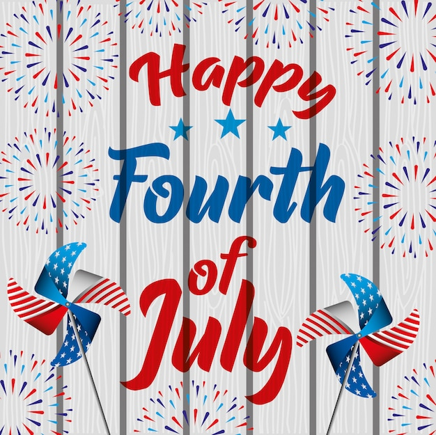 Feliz quatro de julho. cartão do dia da independência