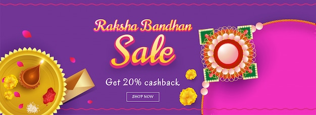 Feliz raksha bandhan banner de celebração.
