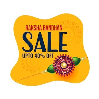 Feliz raksha bandhan banner de venda festival