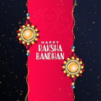 Feliz, raksha, bandhan, festival, bonito, saudação