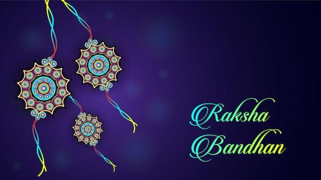 Feliz raksha bandhan fundo de celebração
