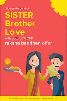 Feliz raksha bandhan venda banner