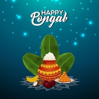 Feliz saudação do festival pongal