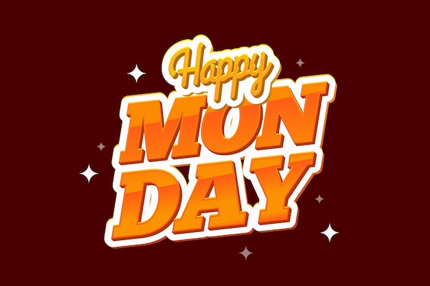 Feliz segunda-feira fundo vermelho