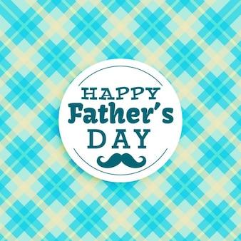 Feliz texto do dia dos pais no fundo azul