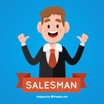 Feliz vendedor