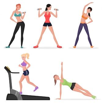 Fêmea de fitness no ginásio