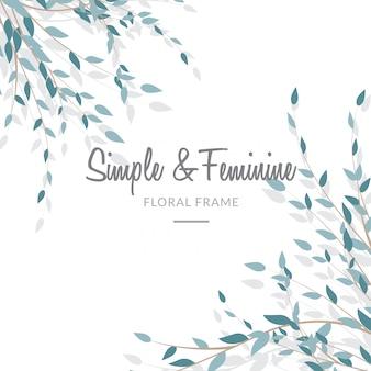 Feminine and simple leave background