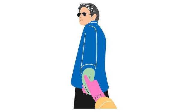 Feminino e masculino de mãos dadas