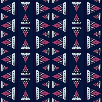 Feminino tribal padrão sem emenda com desenho abstrato geométrico