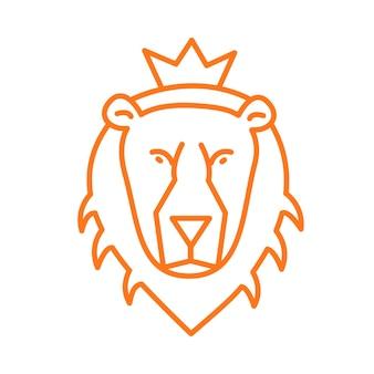 Fera leão com logotipo da contour