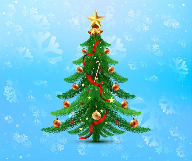 Feriado de celebração de árvore de natal decorativa