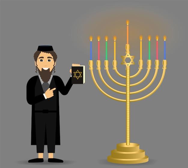 Feriado de hanukkah. judaísmo.