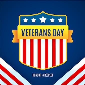 Feriado do dia dos veteranos de design plano