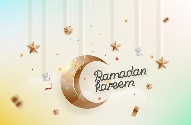 Feriado islâmico de ramadan kareem. ilustração vetorial
