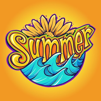 Feriado tropical moderno de fonte de verão