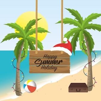 Férias de férias de feliz natal de verão