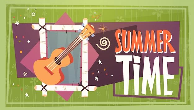 Férias de horário de verão férias de férias retrô de viagens de acampamento