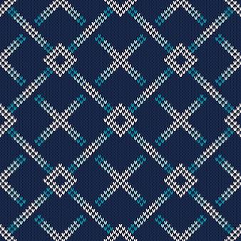Férias de inverno sem costura de malha padrão. suéter abstrato