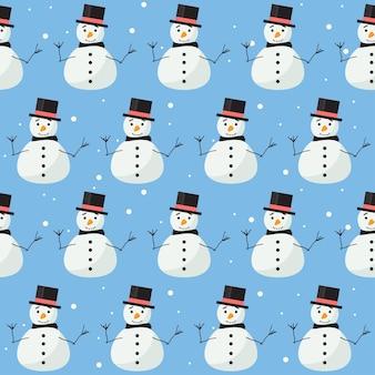 Férias de inverno sem costura padrão de fundo tema de ano novo e natal feliz