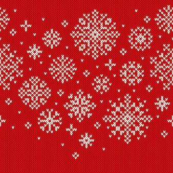 Férias de inverno sem costura tricô padrão. imitação de textura de malha de lã