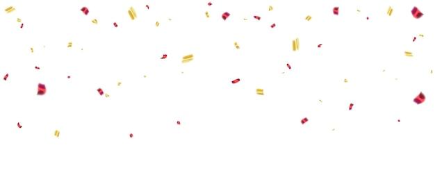 Férias de modelo de design de conceito de confete ouro rosa feliz dia, ilustração em vetor de celebração de fundo.