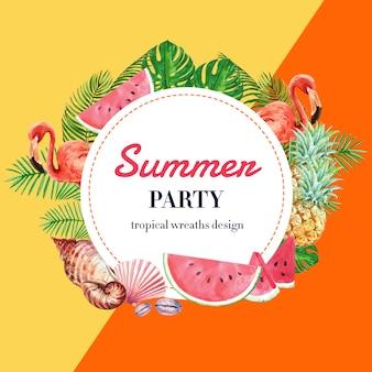 Férias de publicidade de verão. promova no disconto da venda.