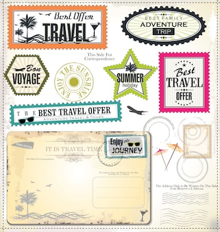 Férias de verão e etiqueta de tempo de viagem