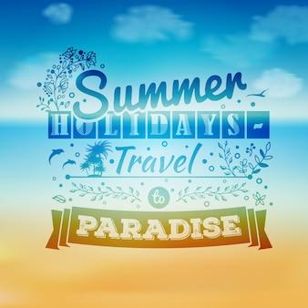 Férias de verão e fundo de férias.