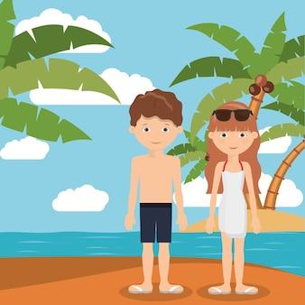 Férias de verão em design de família