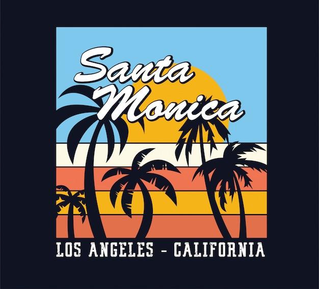 Férias de verão em santa monica, los angeles, califórnia